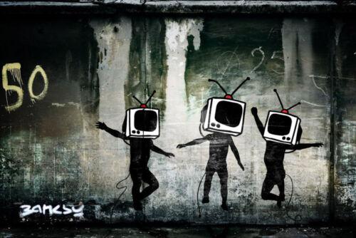 Home Dcor Posters & Prints Banksy Kids at Play Graffiti street ...