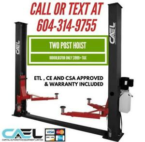 New two post hoist car truck lift hydraulic lift 10000lbs CSA Approved certified & warranty Canada Preview
