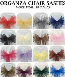304afd392a16 Details about 150 organza belts cover for chair ribbon bow ties party  wedding decoration- show original title