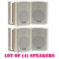 Lot Of (4) Pyle Pdwr5t 5.25 Indoor/outdoor Waterproof Speakers, 125 Watts Rms on sale