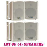 Lot Of (4) Pyle Pdwr5t 5.25 Indoor/outdoor Waterproof Speakers, 125 Watts Rms on sale