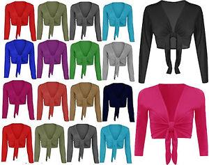 PerséVéRant Nouveau Femme Tie Up Crop Shrug Femme Wrap Ouvert Bolero Cardigan Femme Taille 8-26-afficher Le Titre D'origine Ni Trop Dur Ni Trop Mou