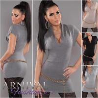 NEW SEXY LADIES FASHION tunic JUMPER shop online womens v-neck KNIT TOP DRESS sz
