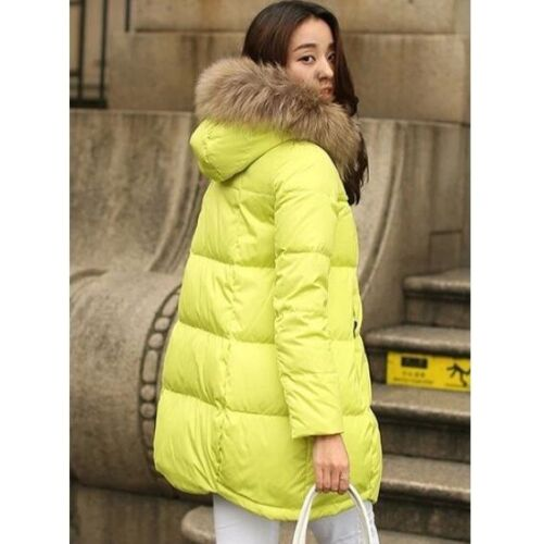 S-5XL Ladies A Line Down Cotton Snow Parka Overcoat Thick Quilted Outwear Jacket