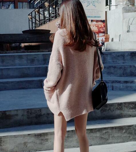 Womens Korean Style Single Buttons Knitted Sweater Cardigans Outwear Coat Coat Coat 0453dd