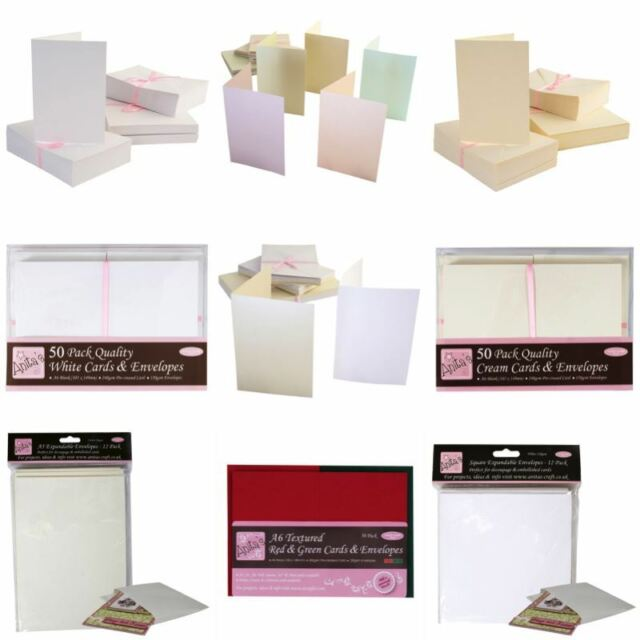 Pack of 50 Papermania 8.9 x 6.3 cm ATC Cards and Envelopes White