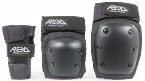 REKD-Heavy-Duty-Triple-Coussin-Set-Noir-Lot-de-Protections