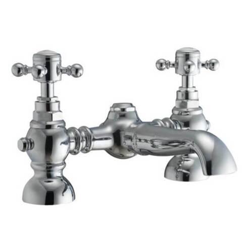 HARROGATE TAPS BASIN MIXER BATH SHOWER FILLER CHROME MO BATHROOM SET