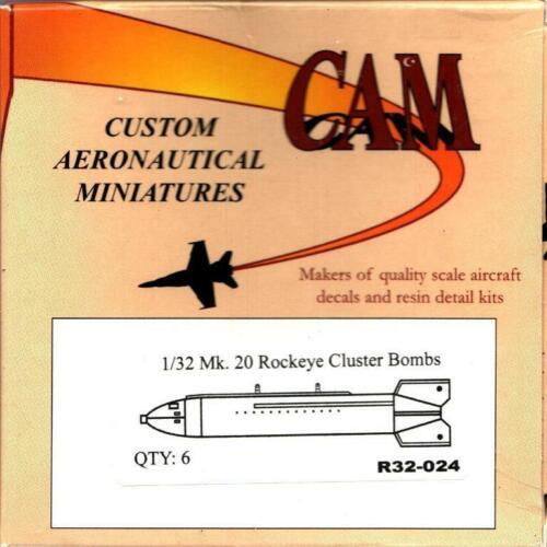 CAM 1:32 Mk.20 Rockeye Cluster Bombs 6 pcs Resin Detail Set #R32-024