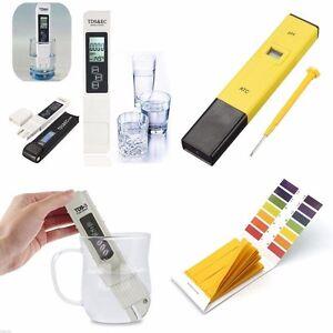 Digital tds meter ph tester paper aquarium pool hydroponic water test pen stick ebay - Misuratore ph piscina ...