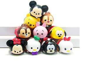 10pcs Disney Tsum Tsum Mini Figure Figurine Mickey Minnie Donald Pooh Pluto toy