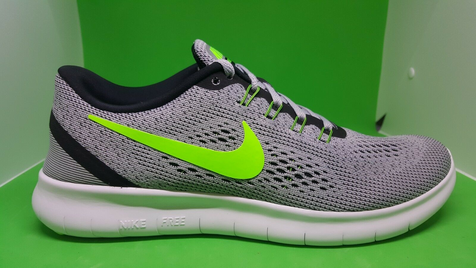Nike Free RN Platinum Electric Green 831508-003 Running Shoes Men's Multi Size