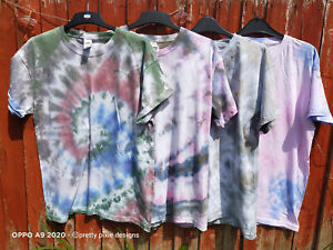 UK-SELLER-Mens-Vintage-Grunge-Tye-Dye-Tshirt-M-L-XL