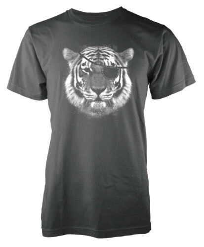 Tiger Pirate Eye Patch Big Cat Adult T Shirt