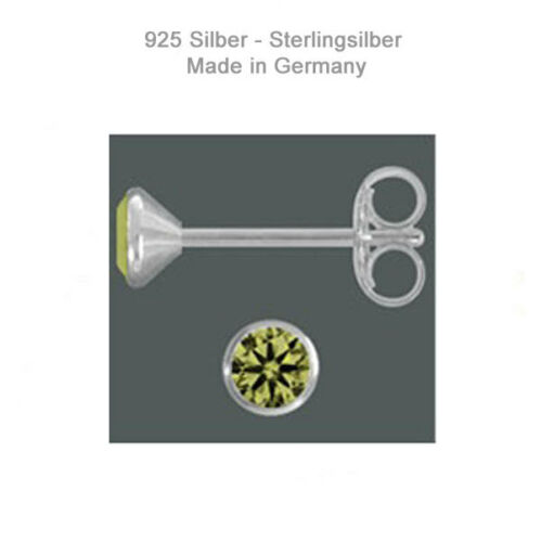 Ohrstecker Echt Silber 925 Zirkonia Ohrringe Damen Kinder Schmuck Deutschland
