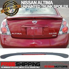 For 02-06 Altima 4D Sedan OE Trunk Spoiler With LED Brake Light Primer ABS