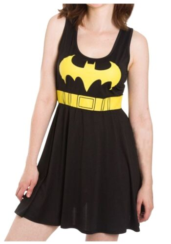 Batman Logo A-Line Adult Womens Dress Bio World Black