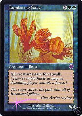 Lumbering Satyr FOIL Mercadian Masques NM-M Green Uncommon MAGIC CARD ABUGames