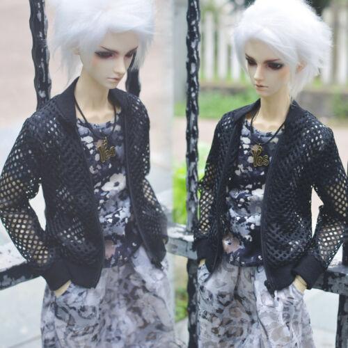New 1//4 MSD DOC DZ BJD Clothes//Outfit Street Fashion Black Baseball Jacket//Coat