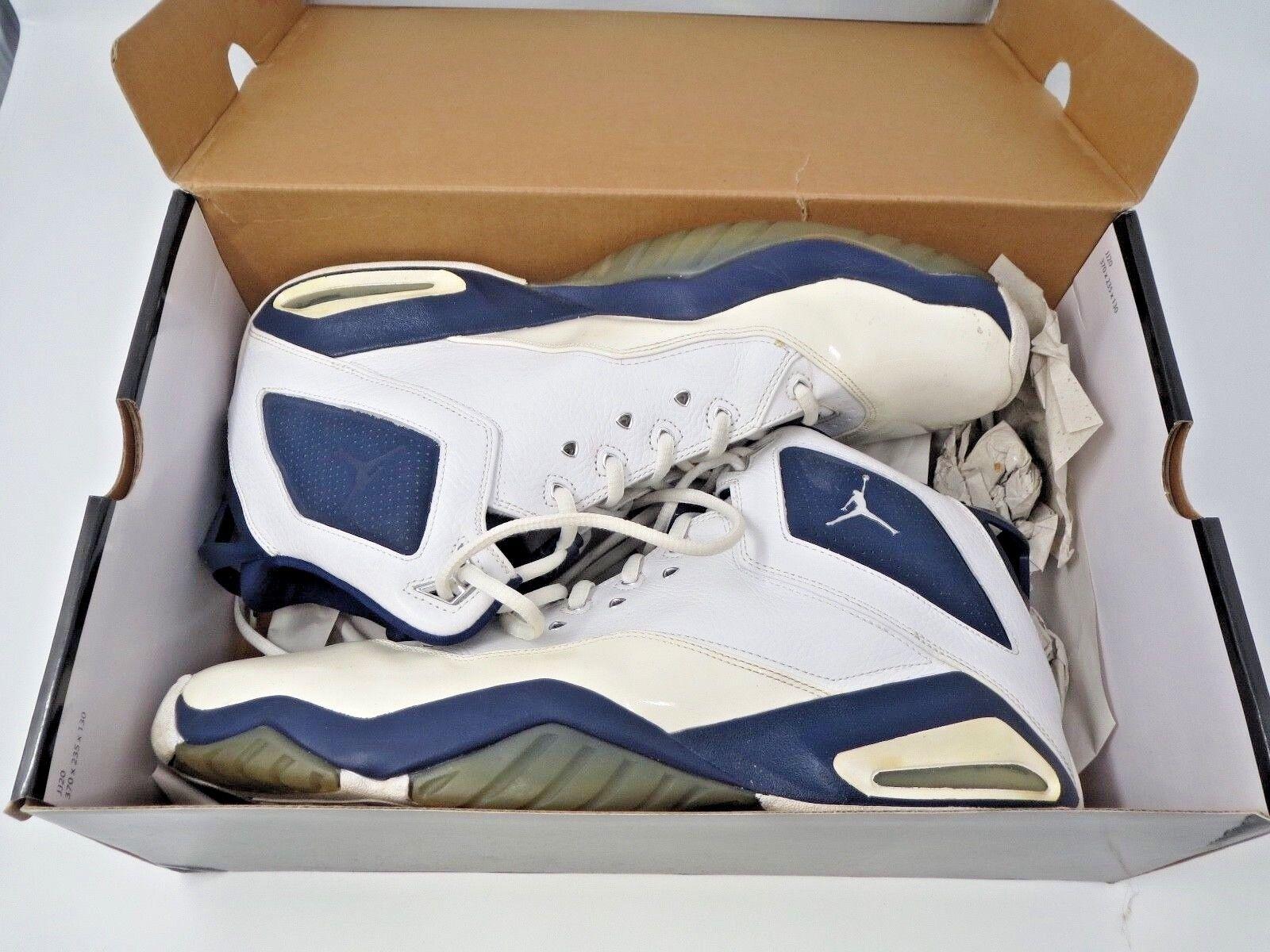 • Nike Air Jordan • B'Loyal • White Navy • Size 14 •