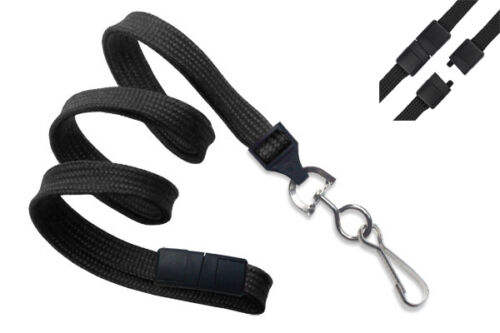10 Pack - Lanyards with Safety Breakaway Clasp & Swivel J Hook by Specialist ID