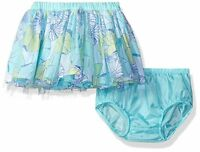 Gymboree Tide Pool Toddler Girl Aqua Floral Mesh Tulle Tutu Skirt Size 3t 5t