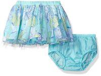 Gymboree Tide Pool Toddler Girl Aqua Floral Mesh Tulle Tutu Skirt Size 3t 5t