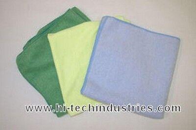 100% Vero Hi-tech Industries Ht-20y 16 X 16 Plush Yellow Microfiber Towel