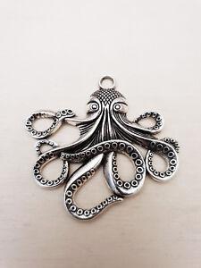 Details zu Tintenfisch Krake Octopus Anhänger ♥ Maritimer Schmuck ♥ Deko Charms Silber