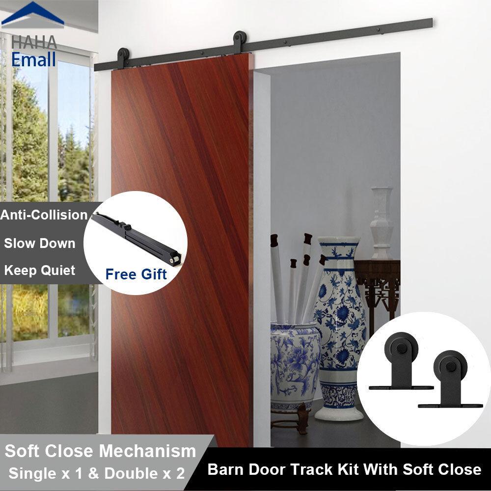 5 16ft Soft Close Modern Single Sliding Barn Door Hardware Track