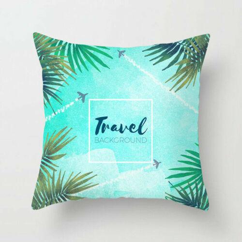 Flower /& Plants Pillow Case Polyester Sofa Car Throw Cushion Cover Home Decor