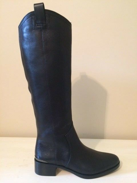 economico LOUISIE ET CIE CIE CIE nero LEATHER KNEE HIGH Dimensione 6.5 EQUESTRIAN STYLE RIDING stivali  confortevole