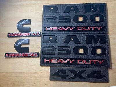 1x OEM Matte Black RAM 2500 HEAVY DUTY Emblem Badge 3D Decal Fu New Mopar
