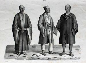 Details Zu Japan Kimono Tokio Nippon Tracht Jimbei Zōri Seide Sabel Samurai Schwert Frisur