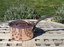 """Mauviel Copper 5"""" Saucepan w/lid stainless steel interior,1.2 mm, Made in France"""