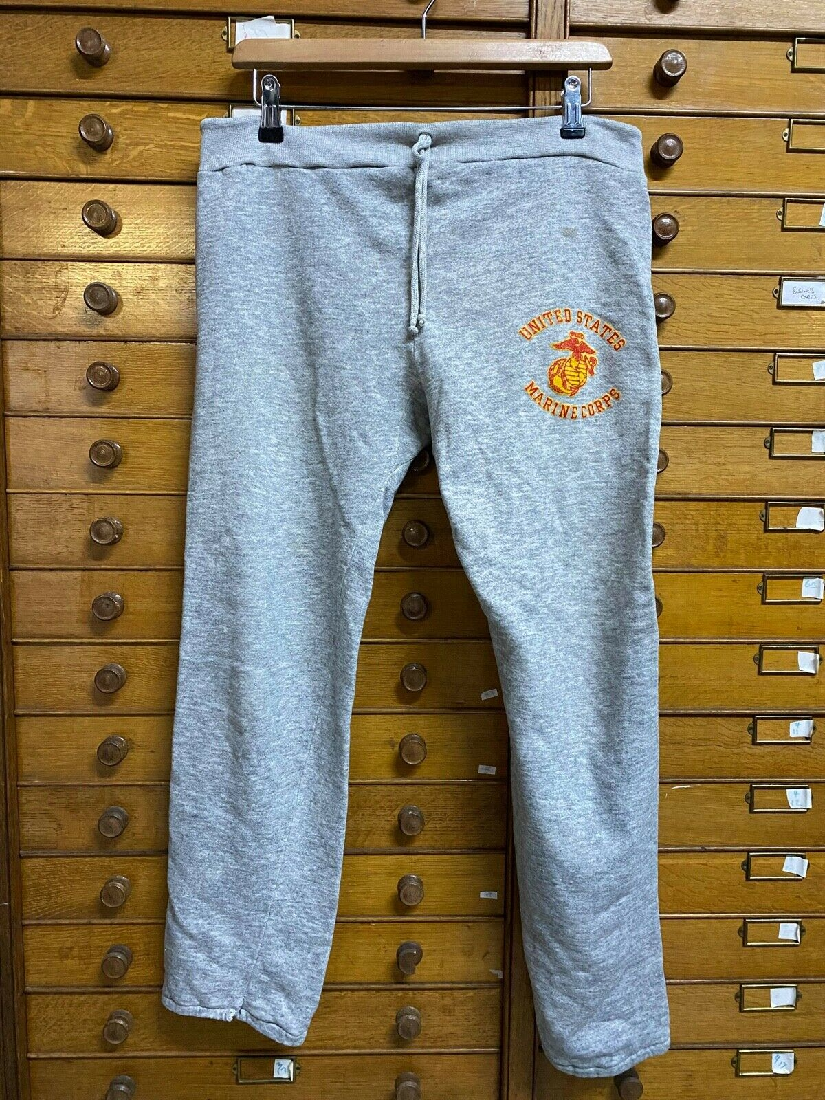 Vintage American United States Marine Corps Military Sweatpants Joggers Trousers