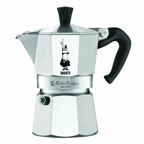 Aluminum Coffee Maker Bialetti 3 Cup Moka Express Espresso Maker
