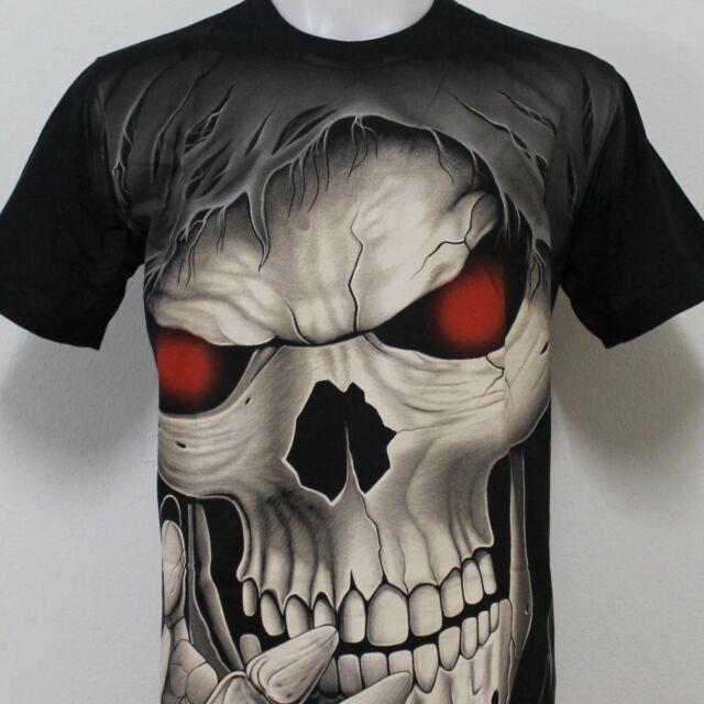 Grim Reaper Skull Tattoo Rock Eagle Discharge T-Shirt G49 New Size M L XL 2XL