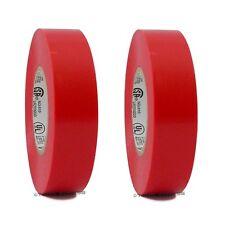 2 Rolls Red Vinyl Pvc Electrical Tape 34 X 66 Flame Retardant Free Shipping