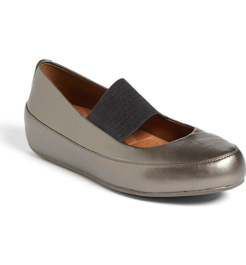 FITFLOP DUE FF2 LEATHER MARY JANE BALLERINA PUMPS Schuhe UK 5 EU 38 BNWOB