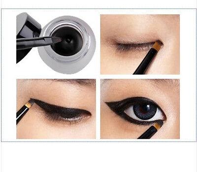 ONE SET new HS99 Waterproof Eye Liner Eyeliner Gel Makeup Cosmetic + Brush Black