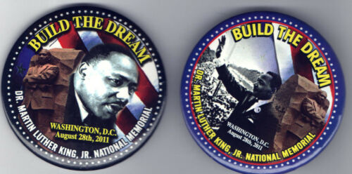 # B 1 ONE Dr. KING 2011 pin National MEMORIAL Washington DC BUILD the DREAM