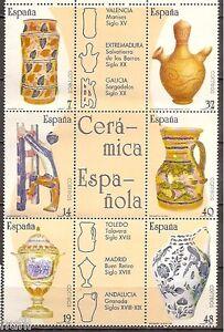 Spain-Edifil-2891-2896-MNH-Set-Artesania-espanola-Ceramica