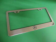 "(1pc)"" MERCEDES-BENZ LOGO "" Stainless Steel license plate frame"