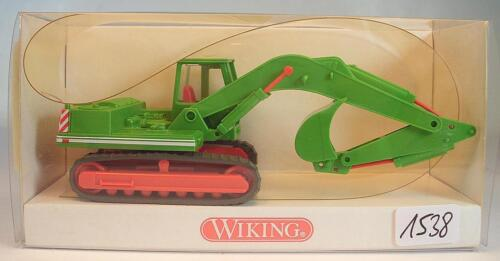 Wiking 1//87 Nr 660 01 25 O/&K Raupenbagger grün Wimo Bau OVP #1538