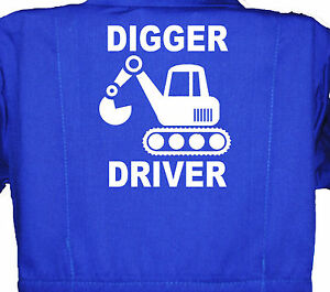 Coverall Overall 1-8yrs Baby Boilersuit Kids Children/'s Digger Driver