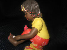 Sarah's Attic Black Americana African American Figurine girl painting toes nails
