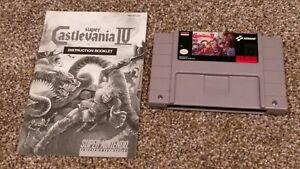 Super-Castlevania-IV-4-Super-Nintendo-SNES-Konami-Video-Game-Cartridge-amp-Manual