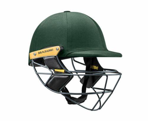 2020 Masuri E Line Original Series Green Cricket Helmet Steel Grill
