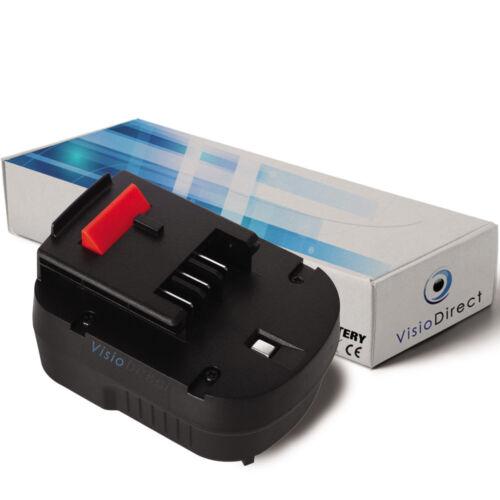 Société Française Batterie 12V 3000mAh pour Black et Decker BDGL12K